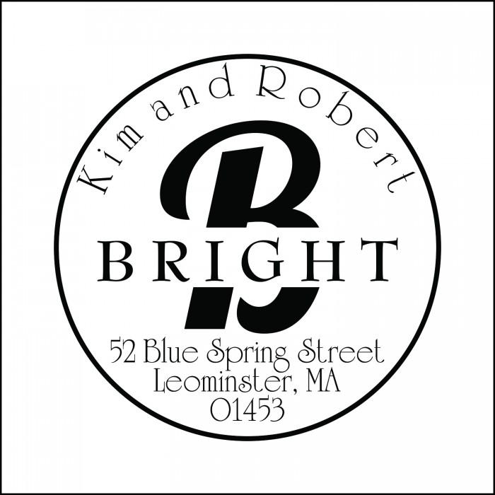 Captivating Boldness Custom Round Monogram Address Stamp Self Inking Personalized Rubber With Return