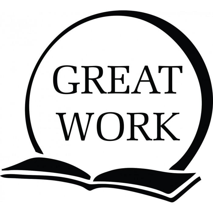 Great Work Open Book Round Teacher Stamp