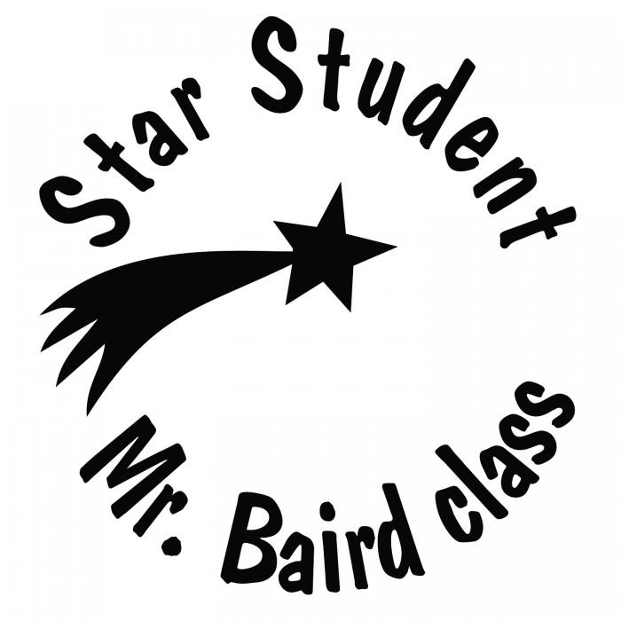 Star Student Shooting Round Teacher Stamp 700x700