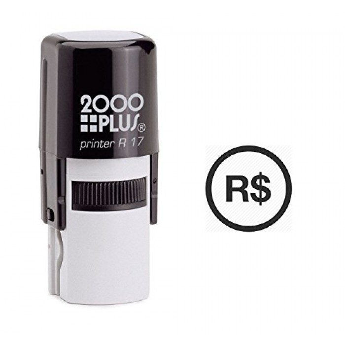 Brazilian Real Currency Symbol Self Inking Rubber Stamp