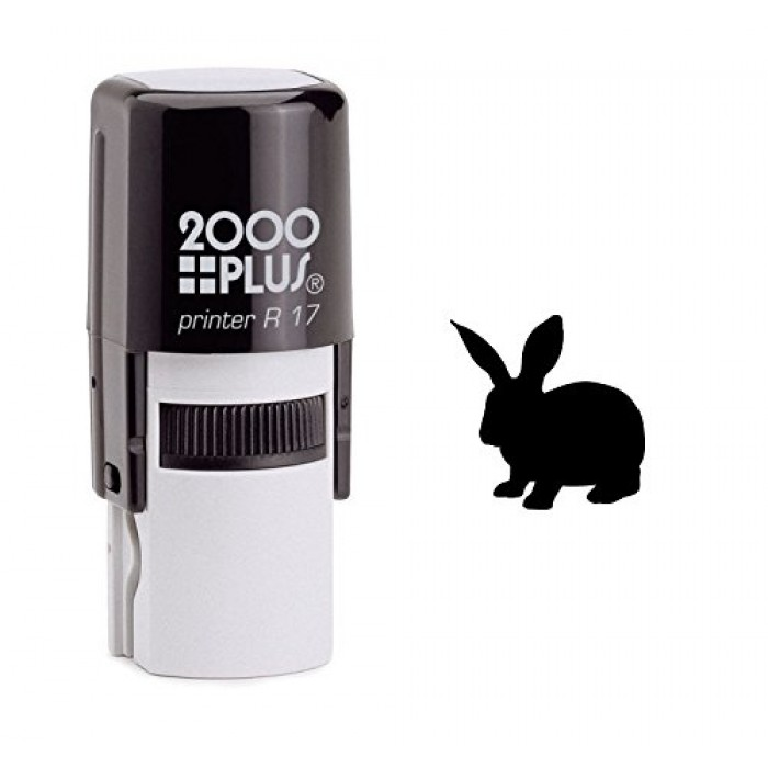 Bunny Rabbit Self Inking Rubber Stamp 700x700