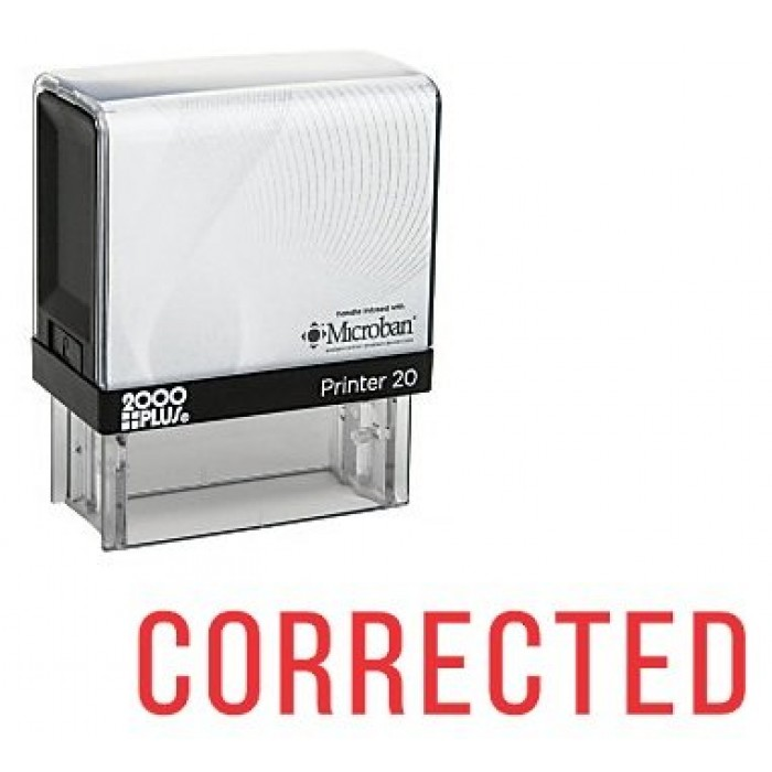 corrected self inking rubber stamp