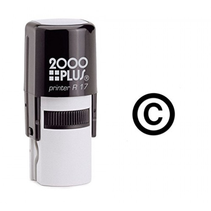 Copyright Symbol Self Inking Rubber Stamp