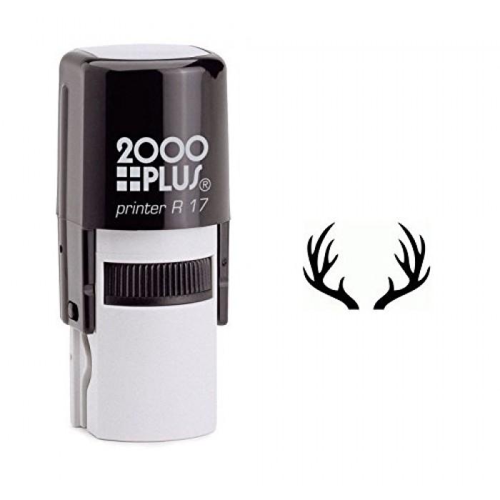Deer Antlers Self Inking Rubber Stamp 700x700