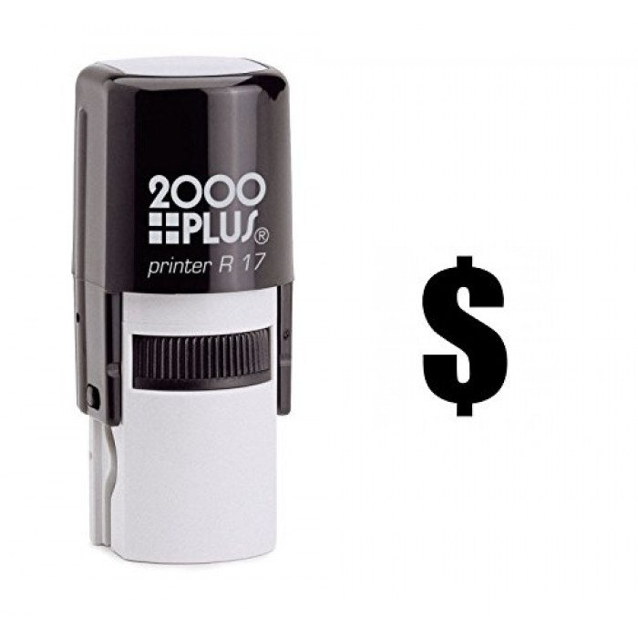 Dollar Sign Currency Self Inking Rubber Stamp