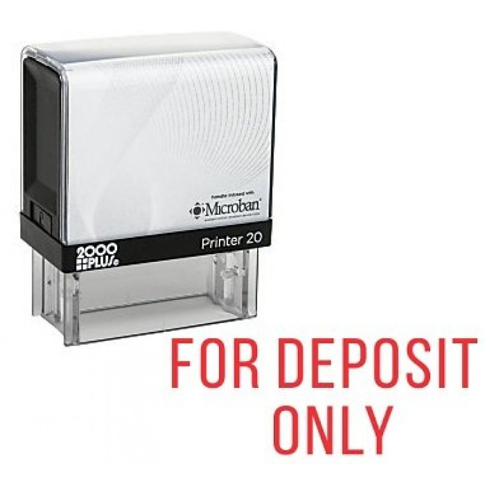 FOR DEPOSIT ONLY Self Inking Rubber Stamp 700x700