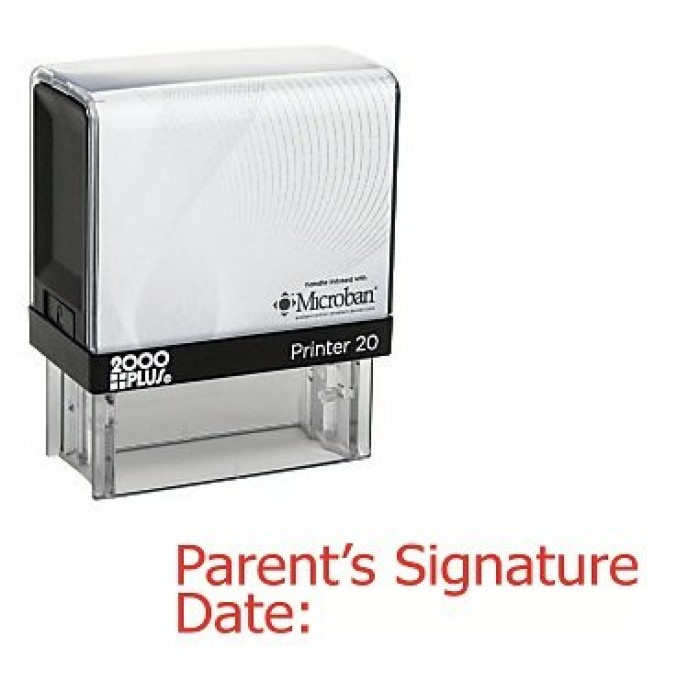 Parents Signature Date Rubber Stamp