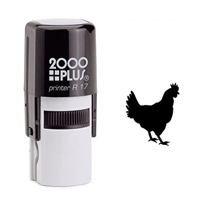Rooster Chicken Self Inking Rubber Stamp 700x700