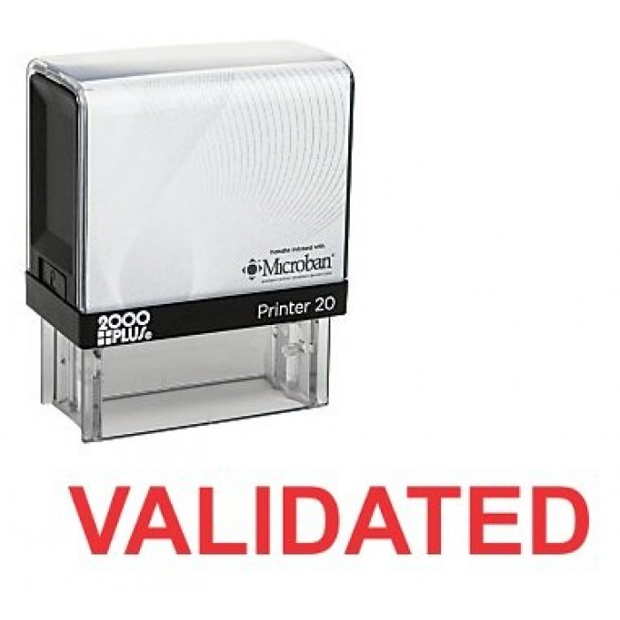 VALIDATED Self Inking Rubber Stamp 700x700