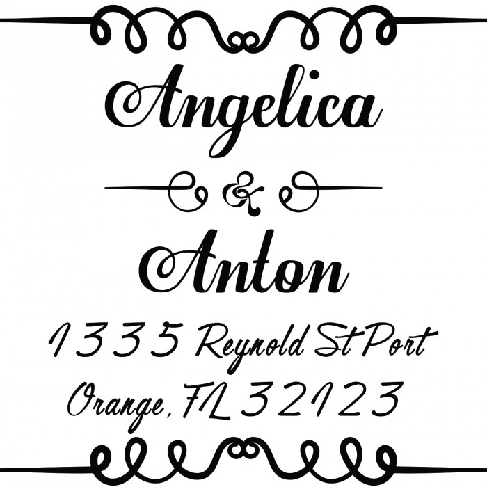 Alluring Finesse Custom Square Address Stamp Self Inking Personalized Rubber Stamp With Return Address